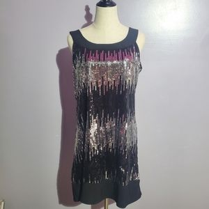 B. Smart black silver sequin dress